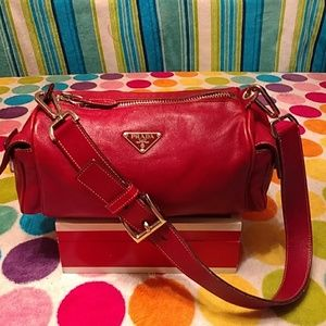 c989de56a048 Prada · Authentic Red Prada leather bag